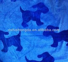 Super soft brushed dog design fabric for baby garment