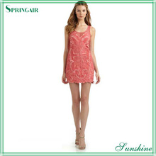 Pink embroidered and beaded dress 2013