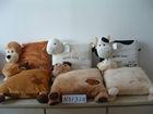 lovely soft plush monkey,sheep,cow,reindeer,dog,bear animal shaped cushion pillow toy, neck and back massage cushion