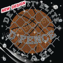 Energetic basketball league rhinestone basketball custom iron ons 2-17 26