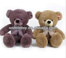 Adorável roxo ou atacado popular urso ou urso de pelúcia barato