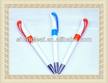 2015 hot promotional plastic ball pen with screw design