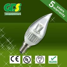candle and light E12 LED Candle Lamp 6W