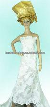 organza and lace wedding dress 2014 OG0125