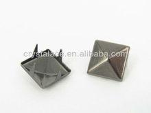 Gun metal square prong studs rivet for leather bags
