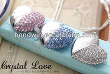 diamond heart usb flash