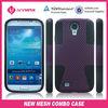 Mesh combo case PC silicone 2 in 1 for Samsung galaxy S4 protector de celular en siicona