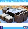 Allibert Carolina Rattan Garden Furniture Pation Set In Anthracite Or Brown