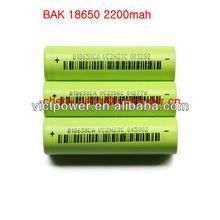 3.7v lipo battery cell B18650CA 2250mAh 3.7v li-ion battery 3.7v cell 18650-2200mah
