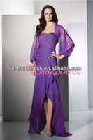 chiffon hi-lo mother of the brides the groom gowns dresses with jackets