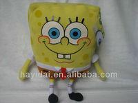 Cute sponge bob stuffed toy for children
