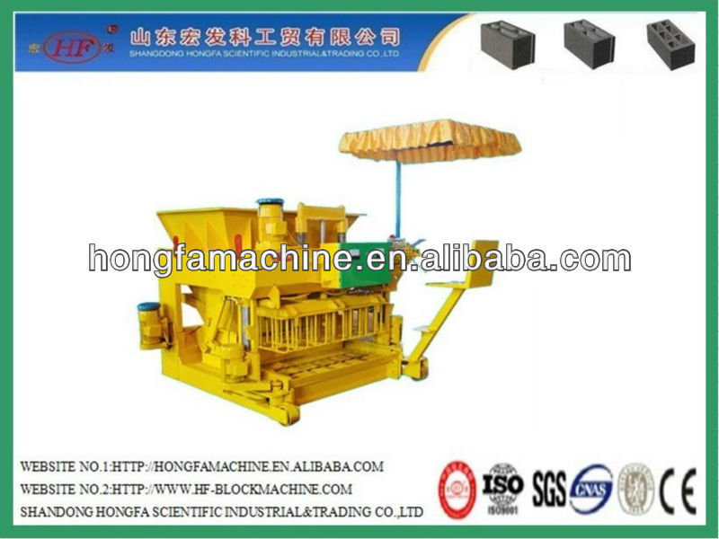 Philippines sells good JMQ-6A hydraulic mobile hollow block making machine