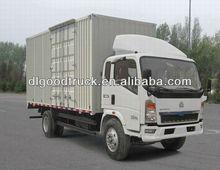 HOWO dry cargo box truck van