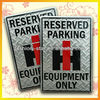 Embossed Parking Sign