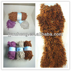 hairy feather knitting yarn for scarves collars