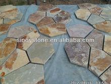 Rusty slate net paving