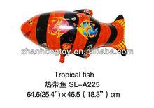 Tropical fish shape foil balloon