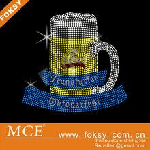 wine glass for rhinestone iron on transfer motif - FOKSY