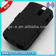 black mobile phone combo case cover for blackberry8350