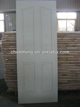 white primer moulded hdf door skin with wooden grain