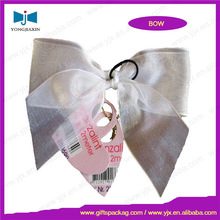silver transparent organza bow tie for gift box