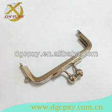 3.5 inch wide channel metal purse frame with big size ball kiss lock closure