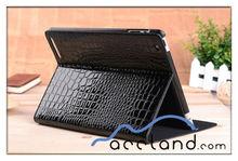 Crocodile Grain Style Leather Case Smart Cover Stand for iPad2 the new ipad 3,crocodile leather case for ipad