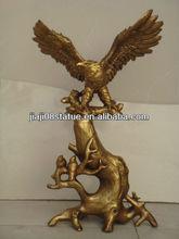 cast brass eagle statue