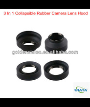 3 In 1 Collapsible Rubber Camera Lens Hood