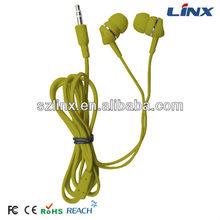 Cheap fashionable design good quality colorful earbud LX-E006