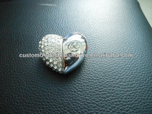 Diamond Heart shape usb memories wedding