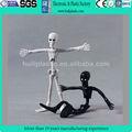 Esqueleto flexível de pvc estatueta, plástico figura bendable, fio de metal figura dobrável para a coleta