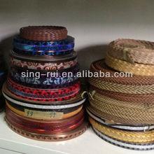 PU materials Thin Belts 2014 Lady/Man (Cuerina sintetica)
