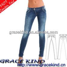2014 Cheapest Wholesale Denim Jeans Ladies Skinny Jeans (GK0516171)