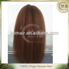 High quality kinky straight Jewish wig kosher wigs ,jewish kosher human hair