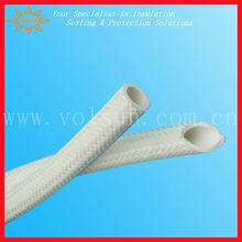 White silicone coated fiberglass sleeving