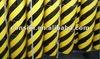 BA3900 yellow& black PET reflective pavement marking tape, road marking tape