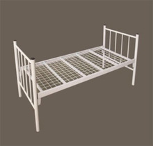 Good Quality Knock Down Structure Cheap Metal Single Beds