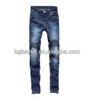 2014 appena stile di modo delle donne jeans denim con tasca