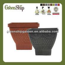 Chinese flower pot /square shape/UV protective,stone powder ,wood powder and plastic