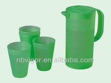 B03-0528 Cute Design Plastic Water Jug And Cup