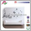 Borboleta e flores de árvores adesivos de parede/decalques da parede arte em vinil adesivo