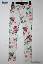 Wholesale Thailand Women Jeans Manufacturer Miscellaneous High Quality Floral Pictures of Casual Trousers for Women on Alibaba