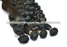 AAAAA brazilian human hair wet and wavy weave