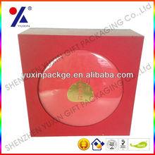 Top and base rigid paperboard box ,acrylic decoration paper box ,OEM order/MOQ 1000pcs