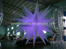 hanging inflatable star for night club decoration