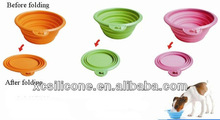 Hot Sale Useful Silicone foldable dog travel bowl
