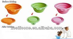 Hot Sale Useful Silicone foldable dog travel bowl