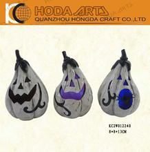 "5"" Halloween Resin Pumpkin with LED Light Craft"
