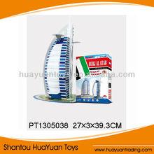 2013 new 3D paper puzzle game Burj Dubai building puzzle